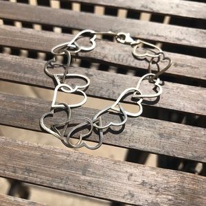 Jewelry - Gold Colored Dainty Heart Link Bracelet